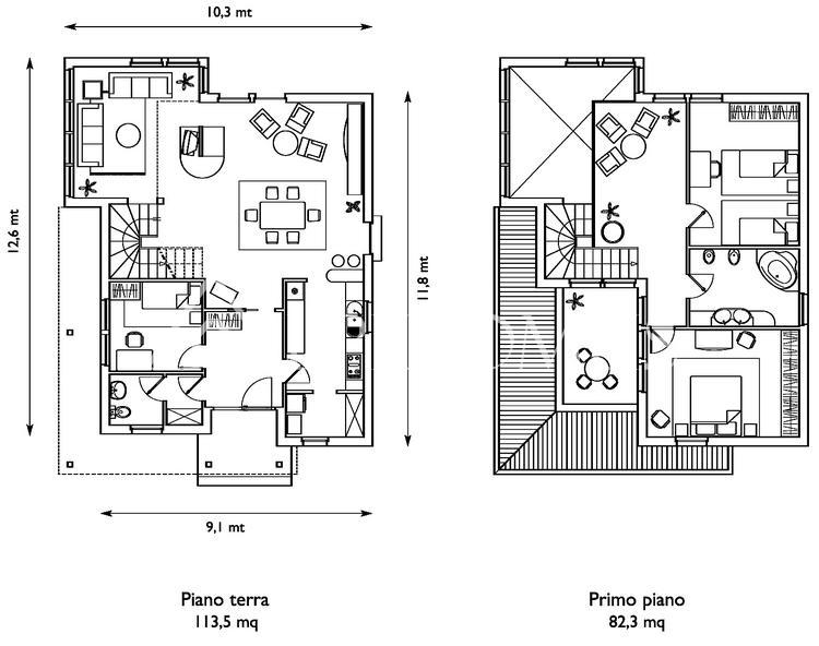 La casa dei sogni bella spaziosa e a risparmio energetico for Tre piani di garage per auto con soppalco